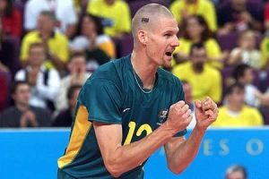 David Beard playing volleyball for Australia at the Olympics
