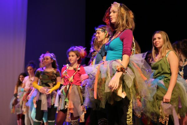 Students performing A Midsummer Night's Dream