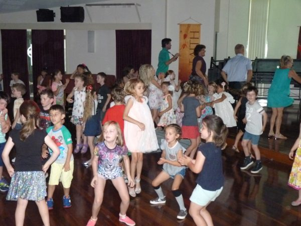 Kids dancing at disco