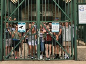 Students behind bars at Maitland Gaol