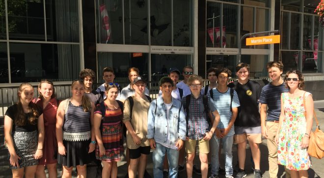 Year 10 Commerce Visit Sydney